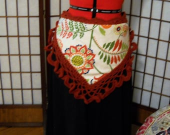 Red Ruffled Hip Scarf, Ready To Ship, OOAK