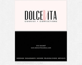 custom bakery DELUXE business cards - thick, color both sides - FREE UPS ground shipping