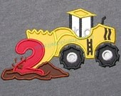 Instant Download - Scraper Truck with number 2 Digitized Embroidery Applique Designs - 4x4, 5x7, and 6x10 hoops