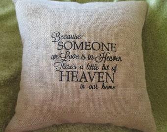 BURLAP Pillow, CANVAS Pillow, EMBROIDERED Pillow, ThrowPillow, Rustic Pillow, Decorative Pillow, Home Decor