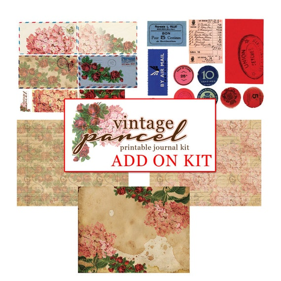 Vintage Parcel-ADD ON- Printable Journal Kit