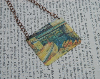 Monet necklace Antibes in the Morning Art jewelry Claude Monet