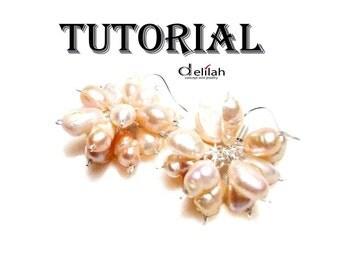 Pearl Earrings Tutorial Earrings Jewelry Tutorial Jewelry Making Tutorial Dangle Earrings Tutorial DIY Earrings Tutorial Earrings Tutorial