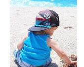 Kids Aztec Surf Trucker Hat by Roupolimama