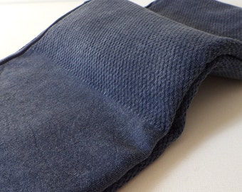 Turkish Towel Peshtemal towel Cotton Peshtemal Stone washed waffle pattern Denim Blue Towel