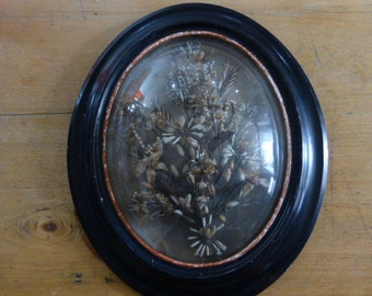 Victorian, Brides Bouquet, Wax Flowers, Framed, French Antique, Circa 1880ish