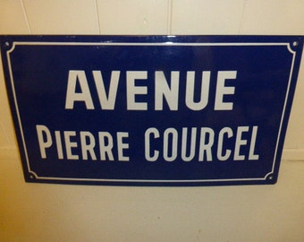 Street Name Sign, French Vintage Circa 1960's