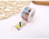 Diary Scrapbook Adhesive Masking Deco Washi Tape - Color Airmail Stamp (3 cm Width)