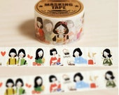 DIY Removable Adhesive Masking Deco Washi Tape - Paper Doll (2.5 cm Width)