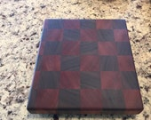 Walnut and Mahogany Butcher Block Cutting Board