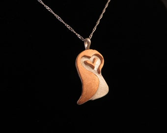 Adorable Shy Owl Pendant on 16in Sterling Silver Chain