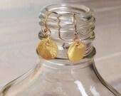Tiny Golden Discs Earrings