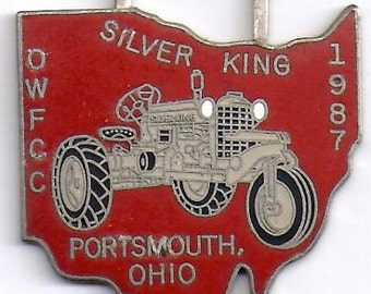 Silver King Tractor Watch Fob