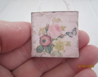Miniature Floral Picture    Free Shipping