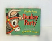 Vintage Game, Donkey Party, Pin the Tail on the Donkey