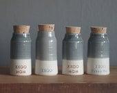 Custom urn, custom color bottle shape urn, custom pottery urn for ashes, personalized name urn. pet or human urn. read item details