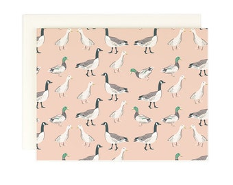 Blank Note Card - Duck Duck Goose