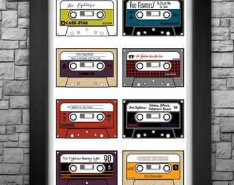 """FOO FIGHTERS """"Cassette Catalog"""" limited edition 11x17"""" art print."""