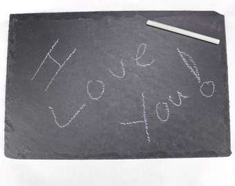 8X12 inch Natural Slate Rustic Plate for notes, chalkboard, table setting etc.