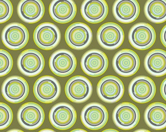 Chipper by Tula Pink for Free Spirit - The Hypnotizer - Mint - 1/2 Yard Cotton Quilt Fabric 516