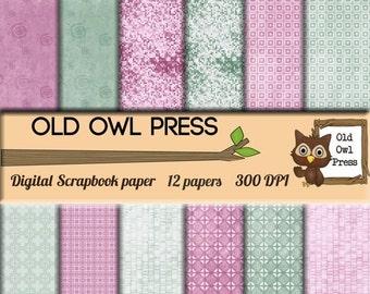 Summer Sale Pink paper,  Digital scrapbook, paper pack, 12 by 12 300 DPI,  Scrapbook Paper, Scrapbooking paper, commercial use, instant down