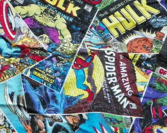 Super Hero Marvel Comic Fabric Perfect for Quilting