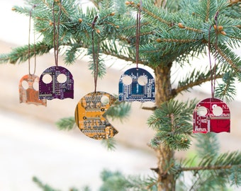 Set of Christmas ornaments inspired by videogame - geeky Christmas - Christmas decor