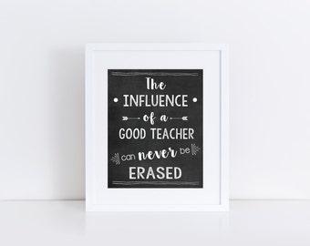 Teacher's appreciation gift, Teacher gift, end of school year gift, teacher quote, class gift