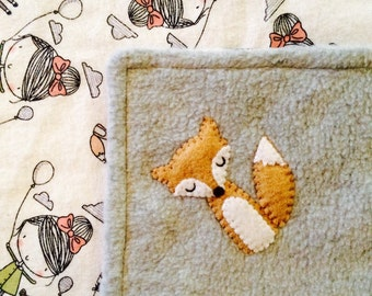 Girl & Fox Lovey Blanket