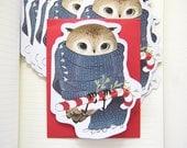 Holiday Owl Card Set - Boxed Card Set - Christmas Card