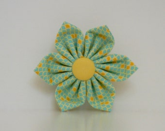Mint Green Yellow Scallop Dog Flower Wedding Accessories Made to Order