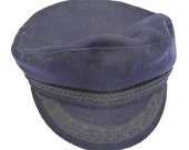 WWII Royal Navy Cap Vintage Military Wool Hat World War II British Royal Navy Rating Sailor's Hat Made in England
