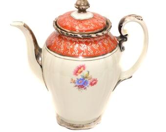 Dekor RW Bavaria Feinsilber Porcelain Coffee Pot Vintage Tea Pot Continental Coffee Pot Vintage Serving Vintage Table