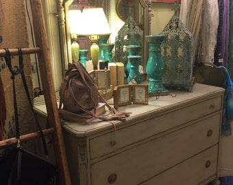 "SOLD..The ""Charlotte"" Antique Dresser With Mirror"