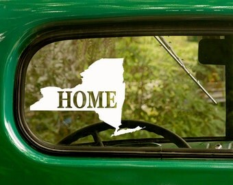 New York Decal, Car Decal, State Sticker, Laptop Sticker, New York  Sticker, Bumper sticker, Vinyl Decal, Car Stickers