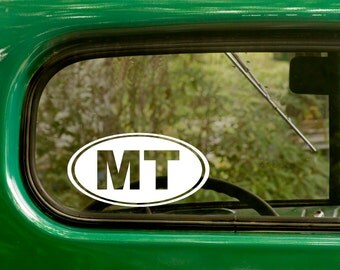 Oval MT Decal, 2 Decals, Oval Montana Sticker, Montana Decal, Laptop Sticker, Car Decal, Oval Sticker, Bumper, Vinyl Decal, Car Sticker