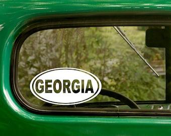 Oval Georgia Decal, 2 Stickers, Georgia Sticker, Laptop Sticker, Oval Sticker, Bumper sticker, car Decal, Vinyl Decal, Car Stickers