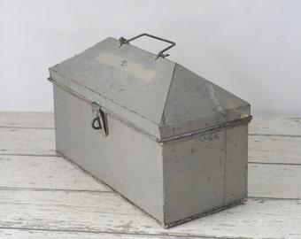 Toolbox Vintage Metal Toolbox  Box Vintage Metal Storage Box