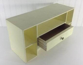 """Desk Interior Storage Cubbies Drawer Yellow Painted Desk Bin Organizer 18"""" w x 6 3/4"""" d x 9 1/2"""" h"""