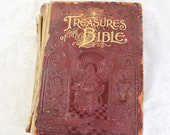 Treasures of the Bible- Antique Book- Published 1894, International Publishing Co., Philadelphia & Chicago- Embossed Leather Cover
