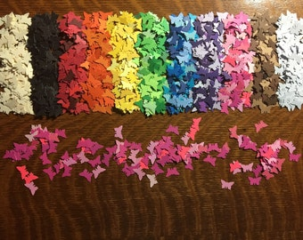 Pink Butterfly Paper Confetti (quantity of 150) Party Decor Punch Die Cuts Small