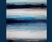 art & collectibles, Paintings,  Acrylic Abstract Painting  Original Ora Birenbaum Titled: Indigo Blues  30x40x1.5""