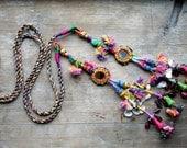 Tribal Pom-Pom Tassel Accessory for hair or belt Boho Hippie Banjara style
