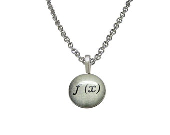 Mathematical Function of X Pendant Necklace