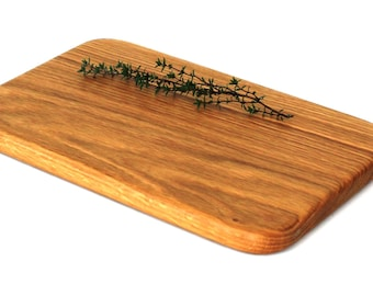 "Natural Slab Hardwood Oak Cheese Board - Ready to Ship - 11""x7""x3/4"""