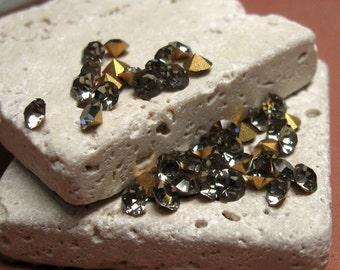 SS19/20 Czech Glass Rhinestones in Black Diamond.  3 dz.