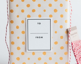 To/From Gift Tags - Bold Border