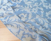 Blue Champagne Reversible Tree Skirt - Made in USA, Free Shipping, Elegant Holiday Jacquard
