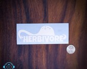 Herbivore Dinosaur - Cut vinyl decal in white