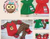 Baby Girls Christmas Outfit, Baby Girls Christmas Clothes, Christmas Icing Ruffle Pants, Icing Sleeve Raglan! Preorder 0017 *Closes 10.20.16